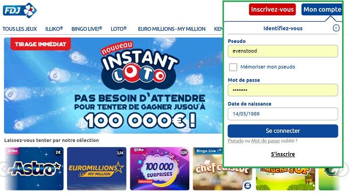 connexion à votre compte fdj.fr